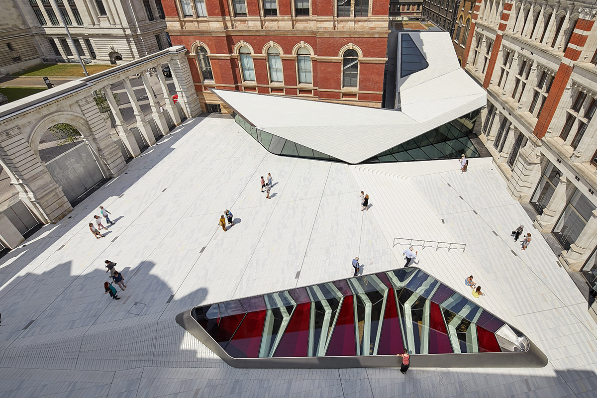 AL_A completes world's first porcelain courtyard for V&A Museum