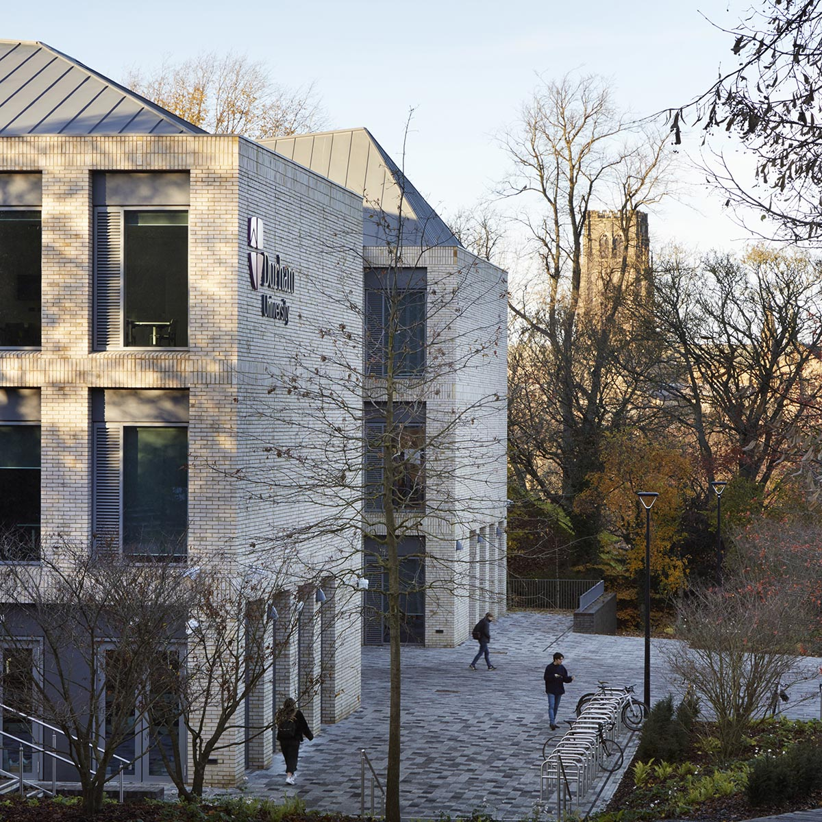 FaulknerBrowns Architects completes teaching and learning centre with pyramidal roofs in Durham