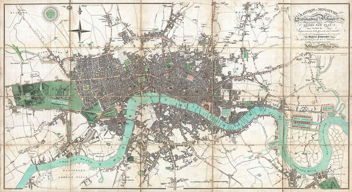London (United Kingdom) plan of the city in 1806