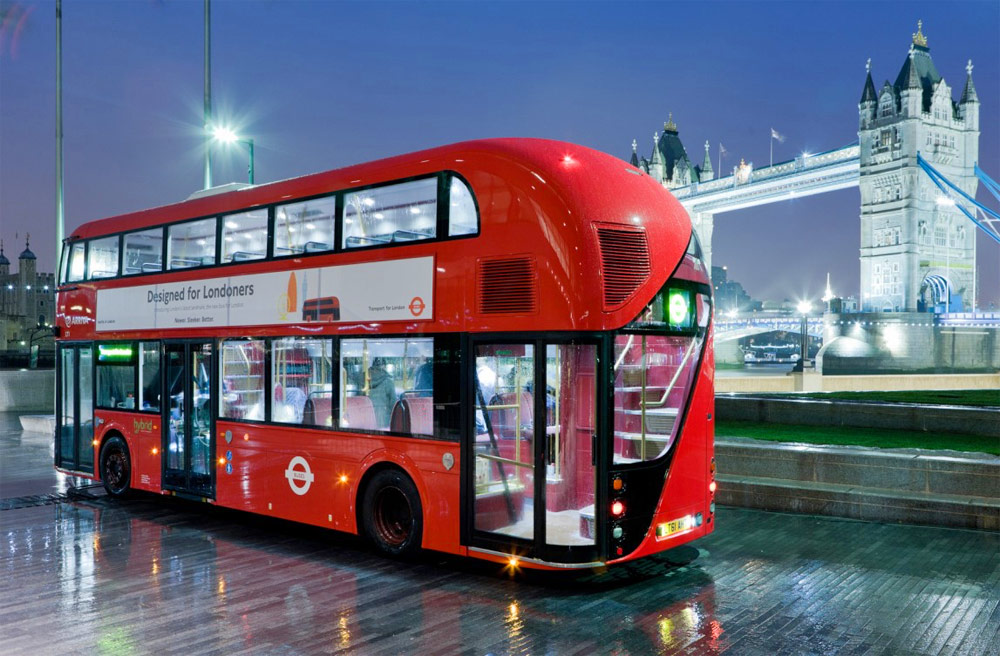 London (United Kingdom) new red double-decker bus