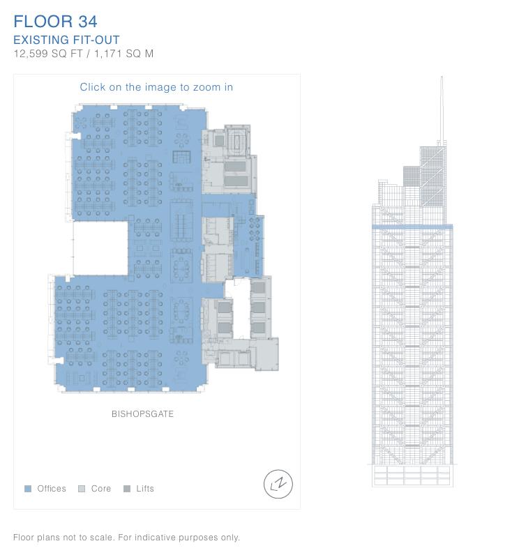 Salesforce (Heron) Tower, London - floor plan