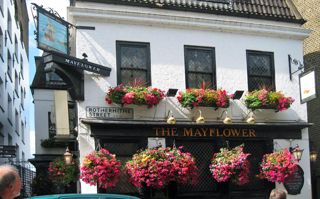 The Mayflower Rotherhithe Pub – oldest on Thames